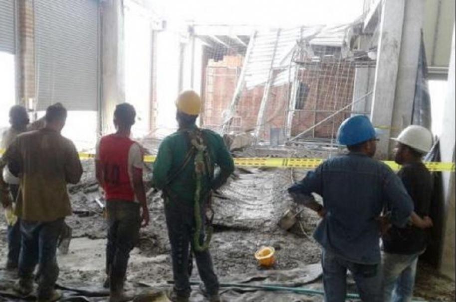 Emergencia en obra en Turbaco