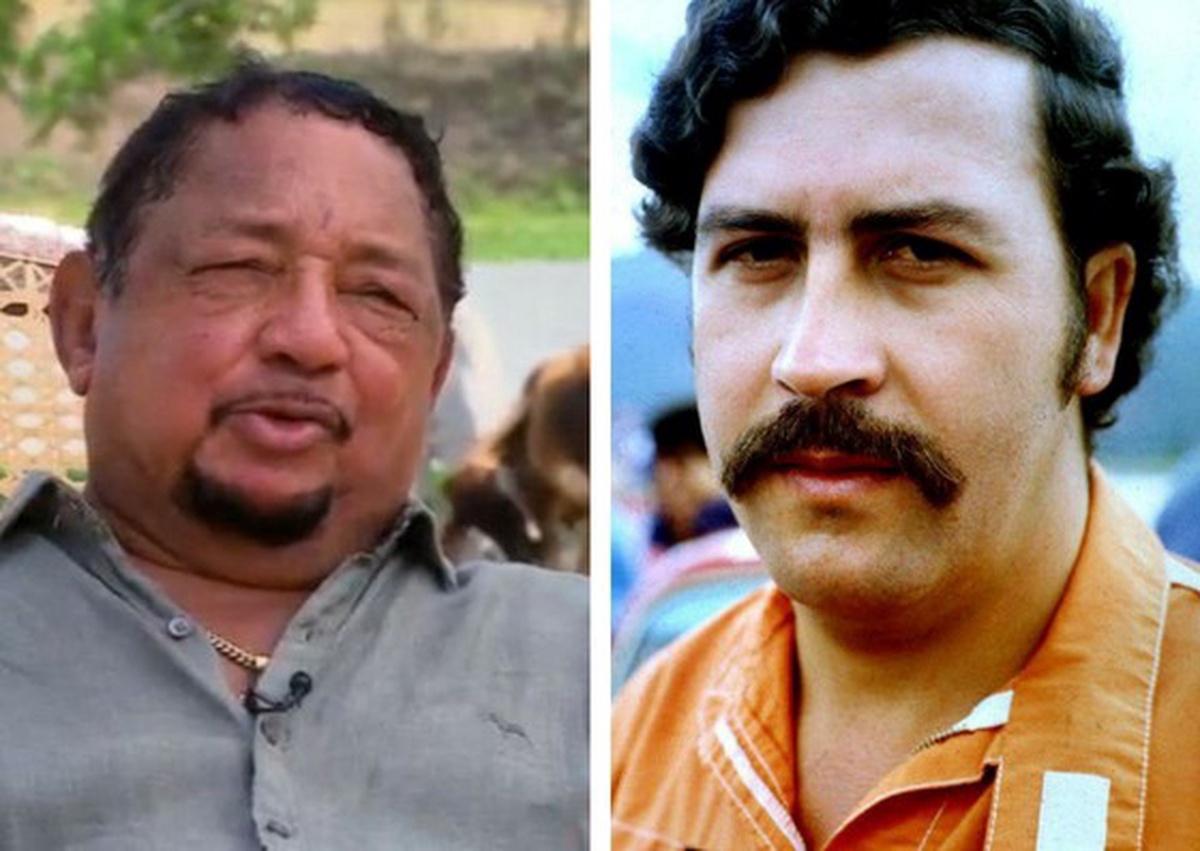 LIsandro Meza y Pablo Escobar