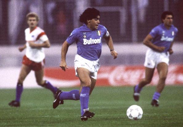 Maradona en el Nápoles