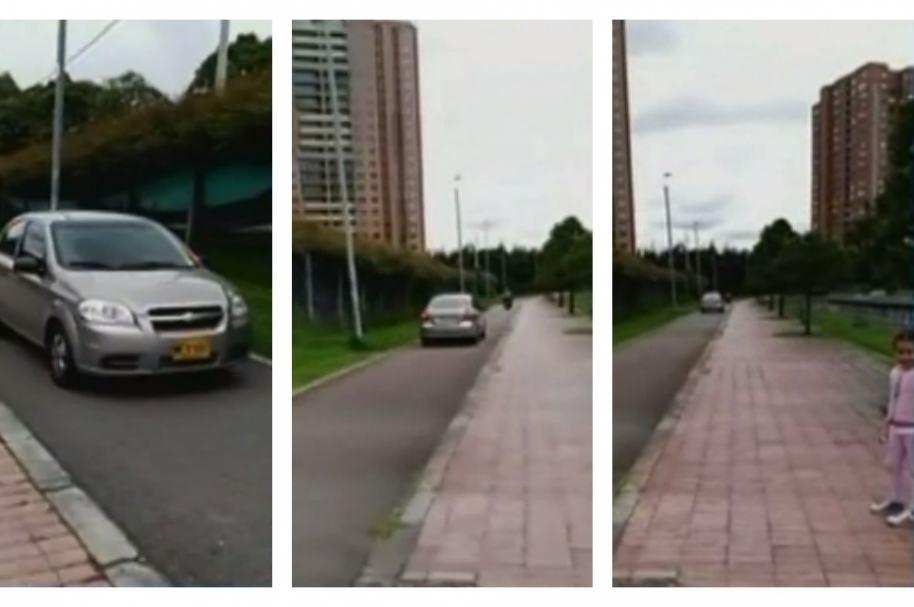 Carro en una ciclorruta en el norte de Bogotá. Pulzo.com