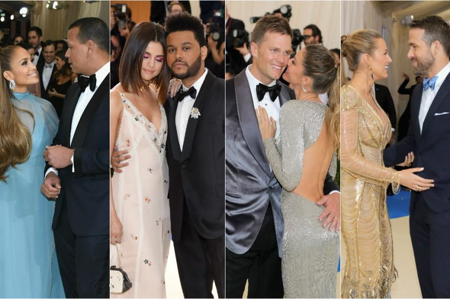 Jennifer Lopezy Alex Rodriguez / Selena Gomez y The Weeknd / Tom Brady y Gisele Bündchen / Blake Lively y Ryan Reynolds