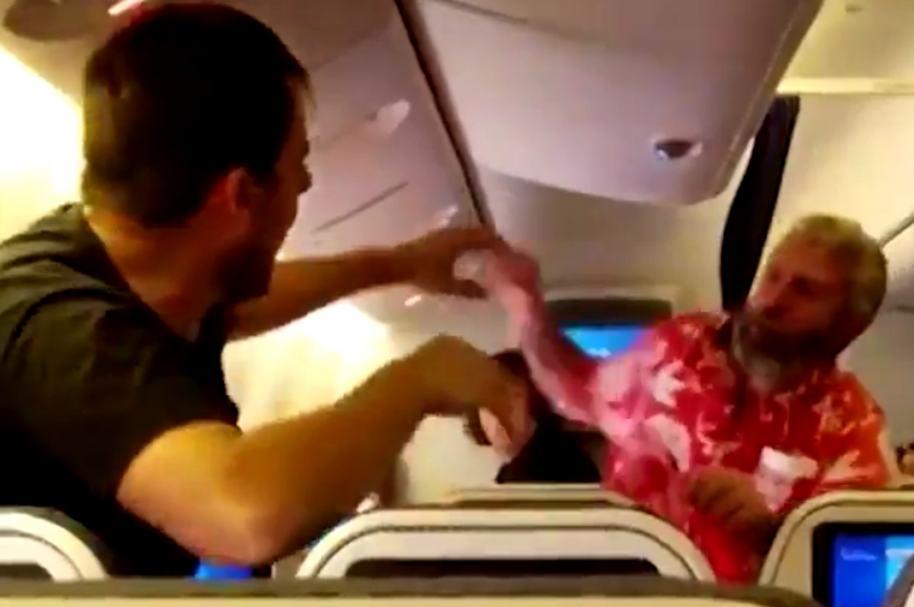 Pelea en avión