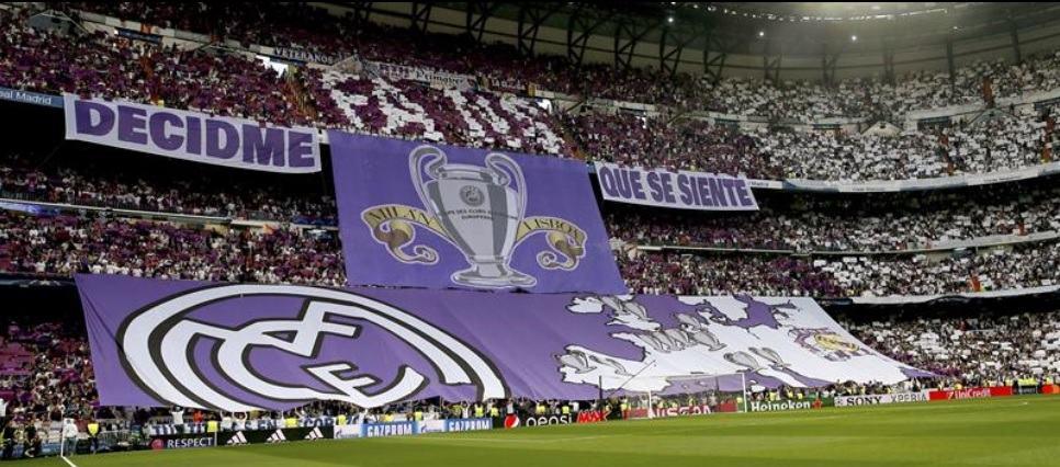 Pancarta de Real vs. Atlético