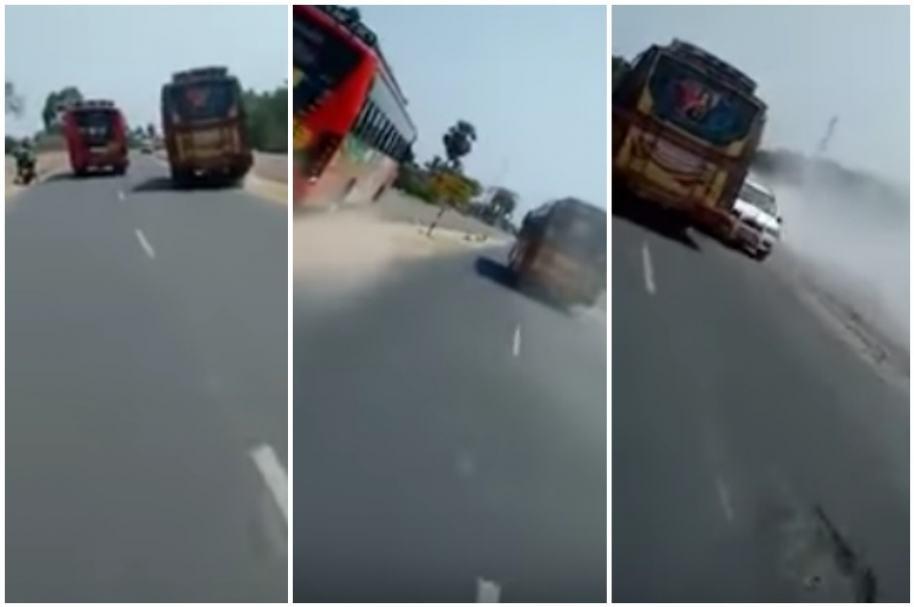Carreras de buses en India.