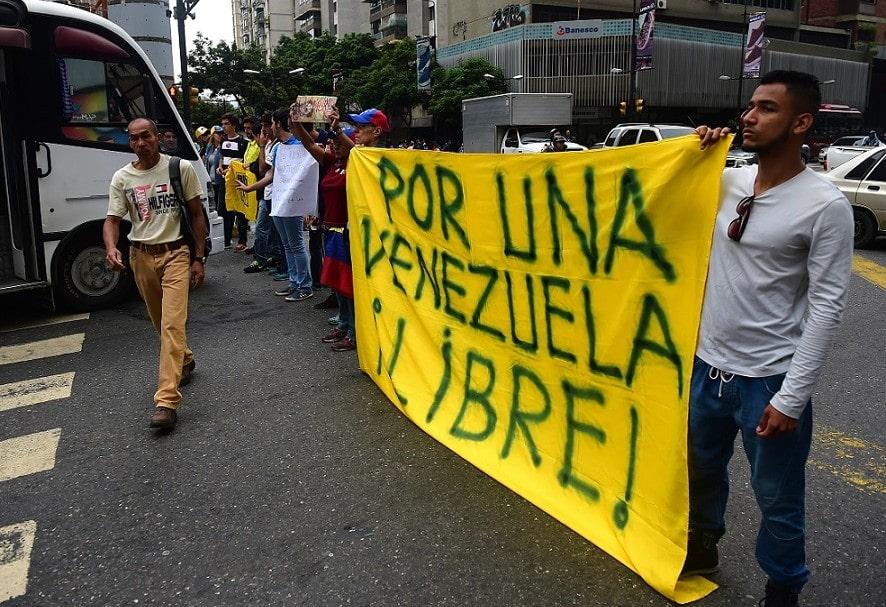 Continúan las manifestaciones en Venezuela
