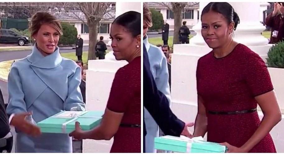 Michelle Obama explica cara por regalo de Melania