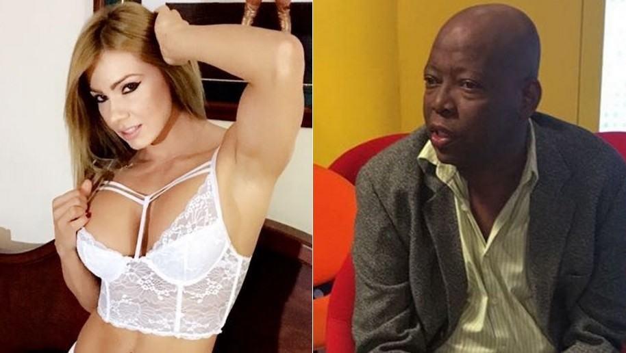 Esperanza Gómez, actriz porno, y Faustino 'el Tino' Asprilla, exfutbolista.