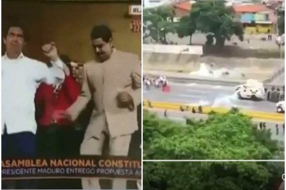 Maduro baila en medio de represión.