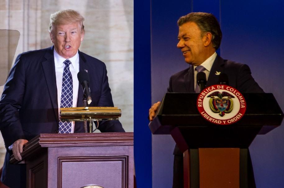 Donald Trump y Juan Manuel Santos