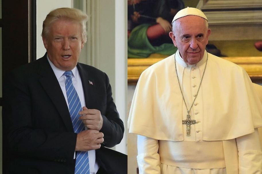 Donald Trump y papa Francisco