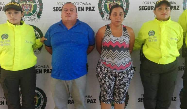 Los detenidos, Edilberto Rojas y Ángela Johana Guerra