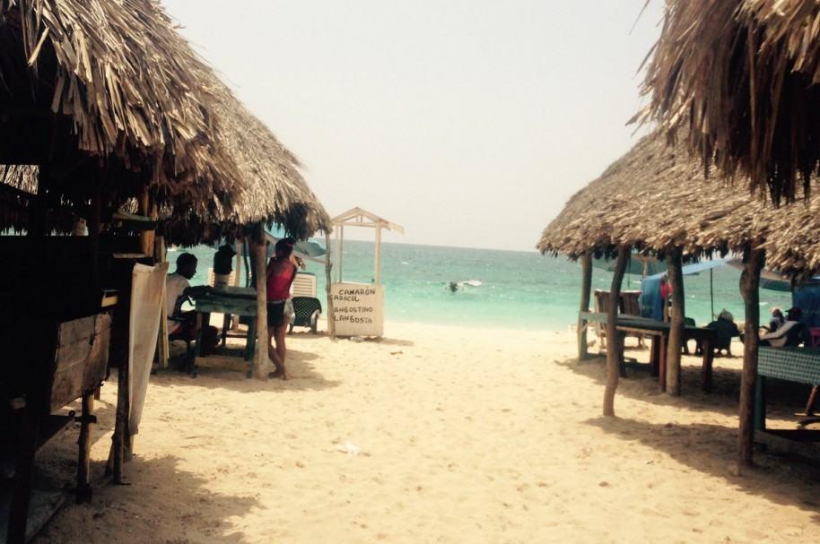 Playa de Barú, en Cartagena