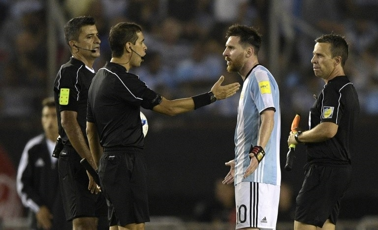 Messi en partido Argentina-Chile
