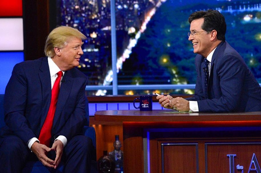 Trump y Colbert