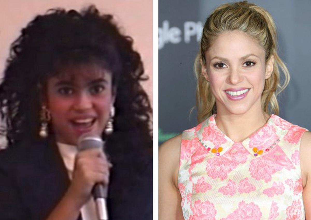 Shakira antes y ahora