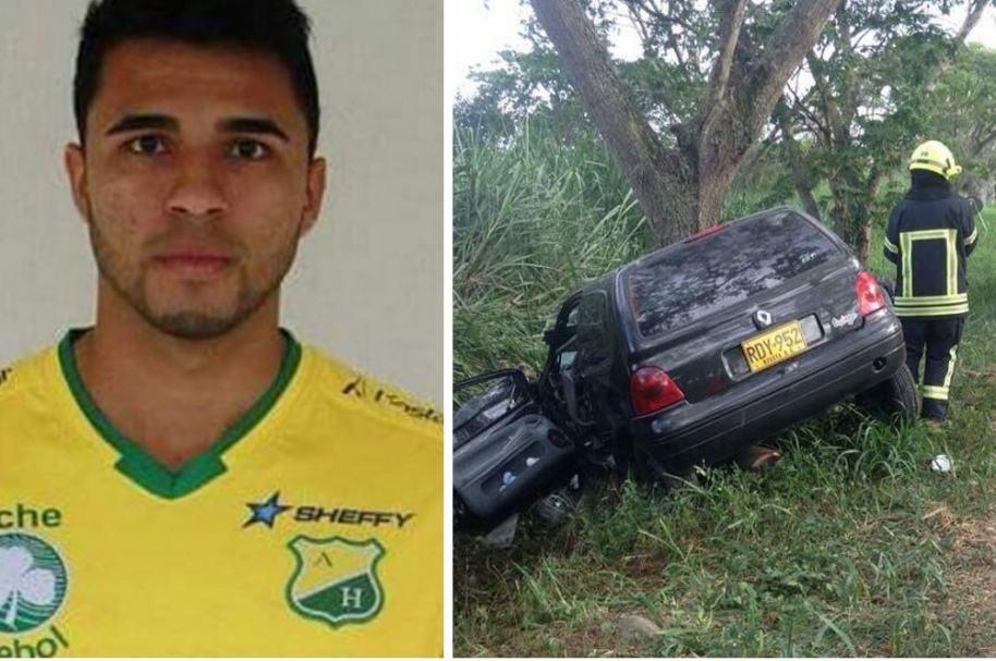 Eduard Gutiérrez, jugador del Atlético Huila fallecido; vehículo en el que se accidentó