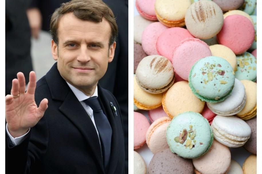Emmanuel Macron y macarrones. Pulzo.com