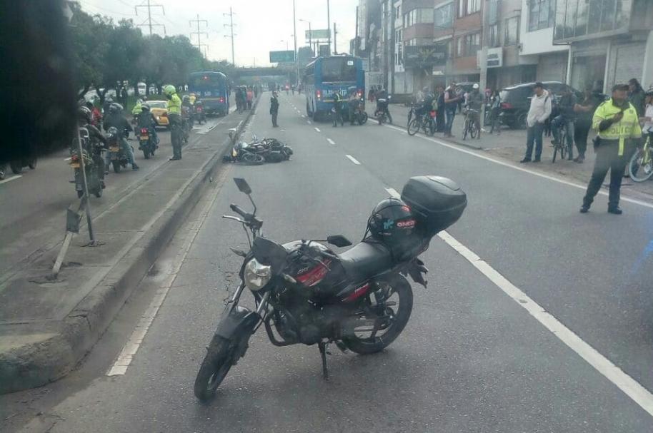 Accidente en la Avenida carrera 68 con calle 70