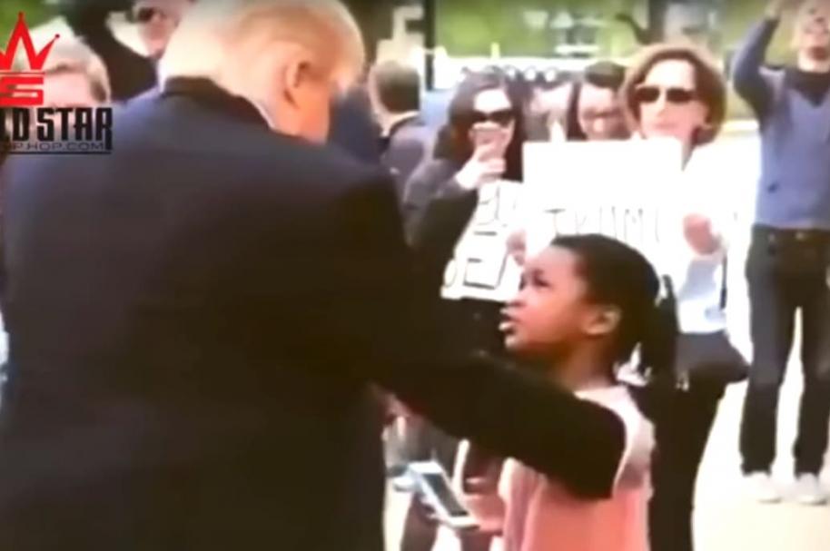 Trump y niña