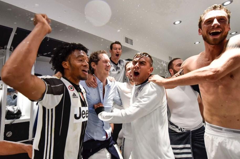 Celebración de Cuadrado con Juventus