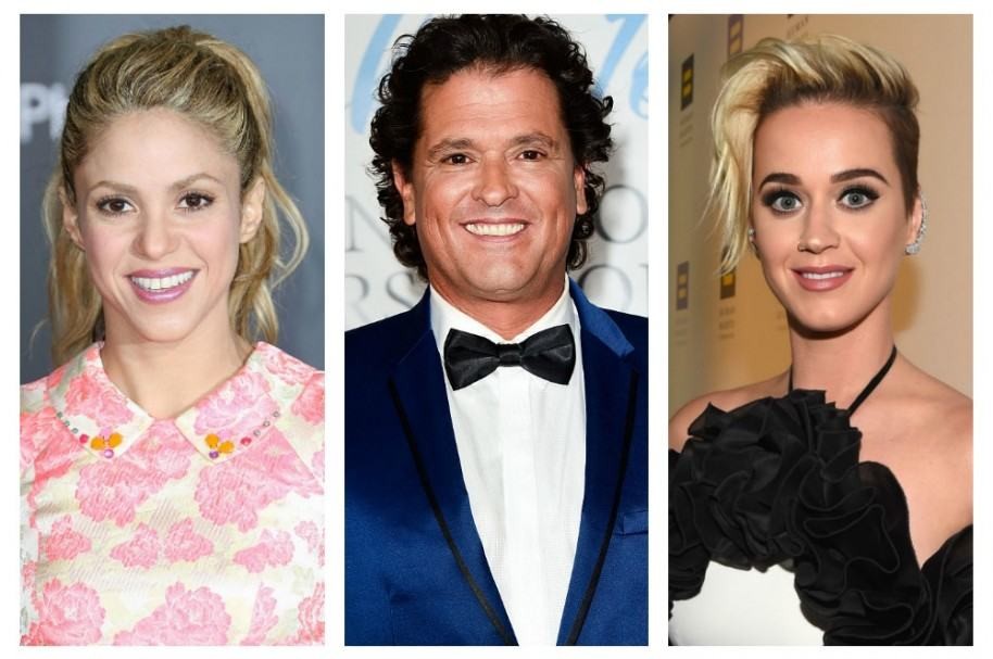 Shakira, Carlos Vives y Katy Perry. Pulzo.com