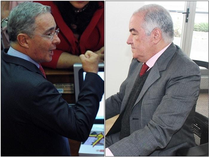 Álvaro Uribe y Edgardo Maya