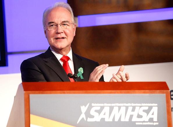 Tom Price, secretario de salud de EE. UU.