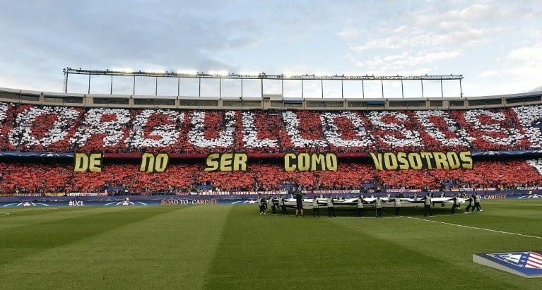 Tifo del Atlético de Madrid