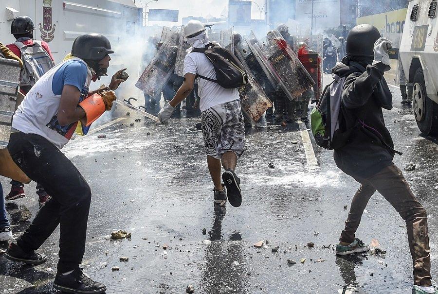Protestas opositoras en Venezuela