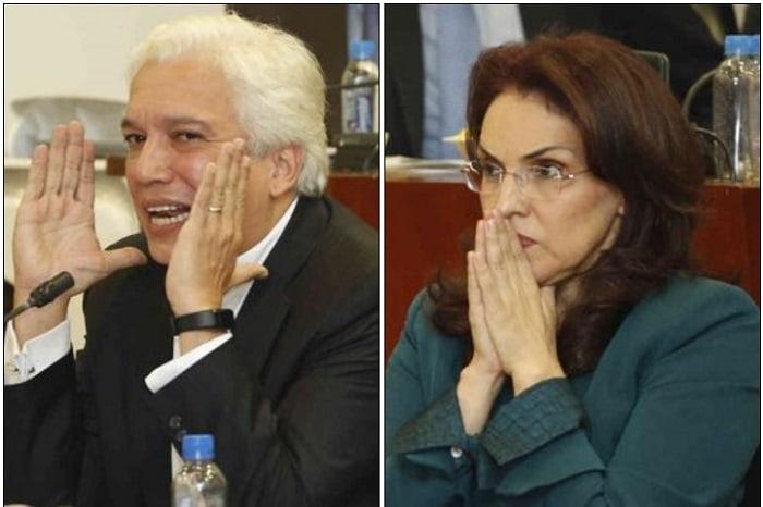 Carlos Alonso Lucio y Viviane Morales