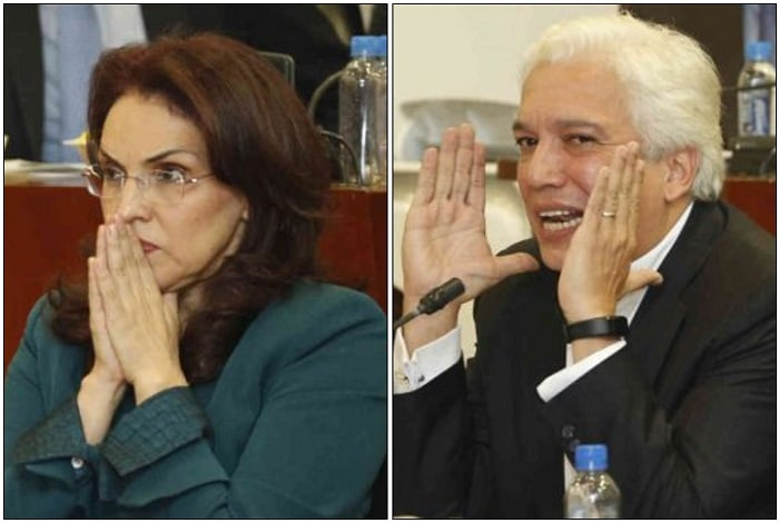 Viviane Morales y Carlos Alonso Lucio