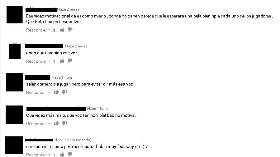 comentarios sobre video