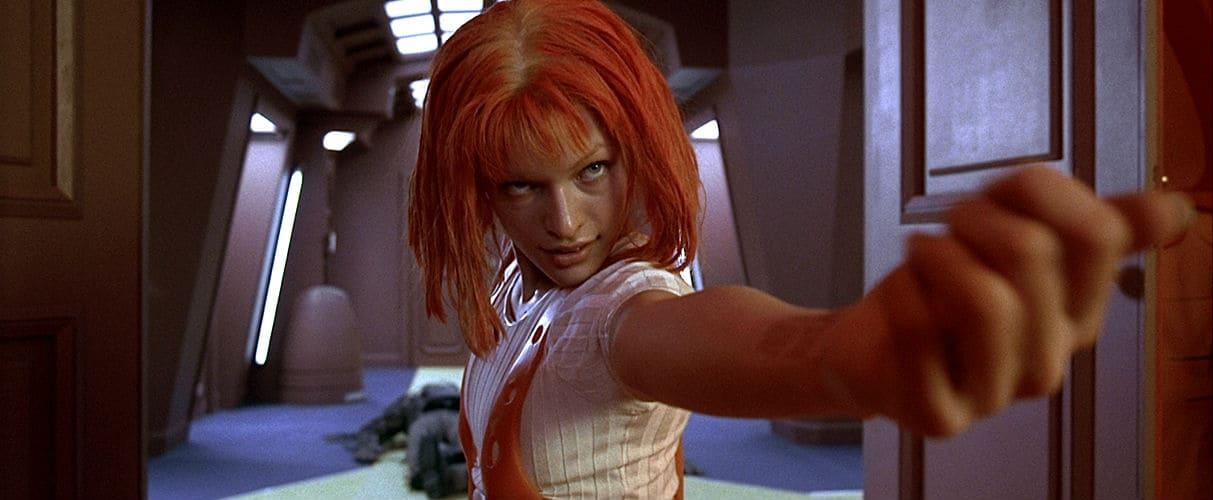 Milla Jovovich como Leeloo en 'El quinto elemento'