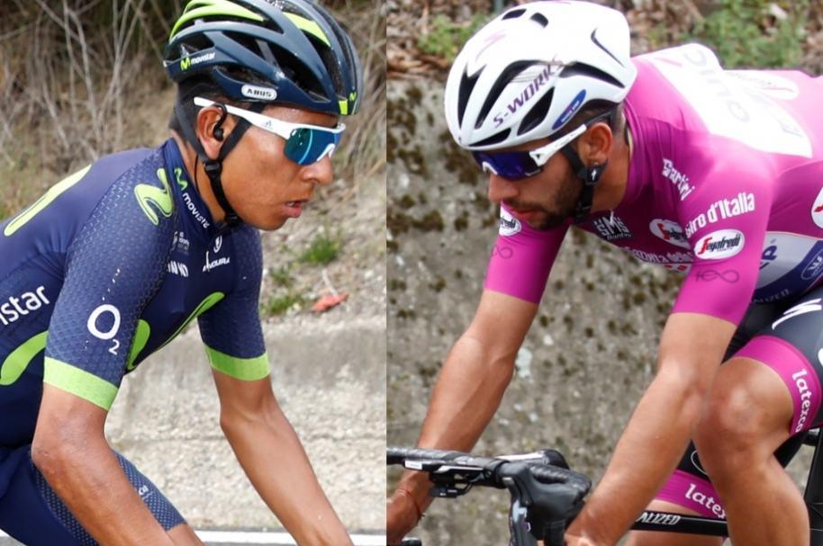 Nairo Quintana y Fernando Gaviria