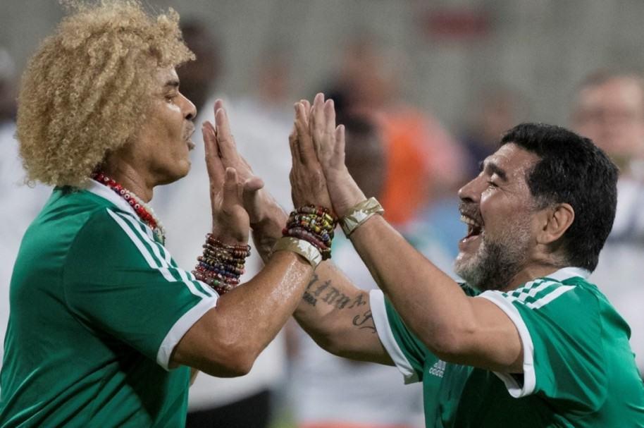 Valderrama y Maradona