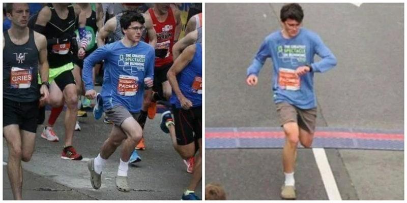 Joven corrió media maraton usando Crocs