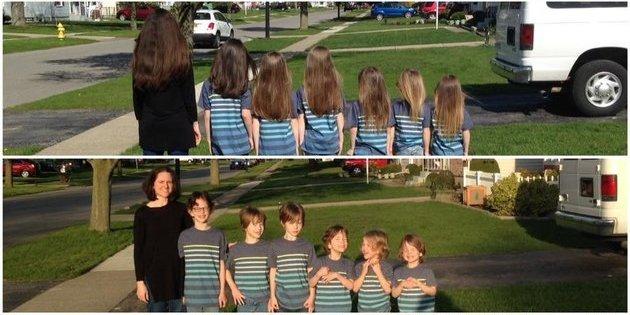Familia se cortó el pelo y lo donó a niños con cáncer. Pulzo.com