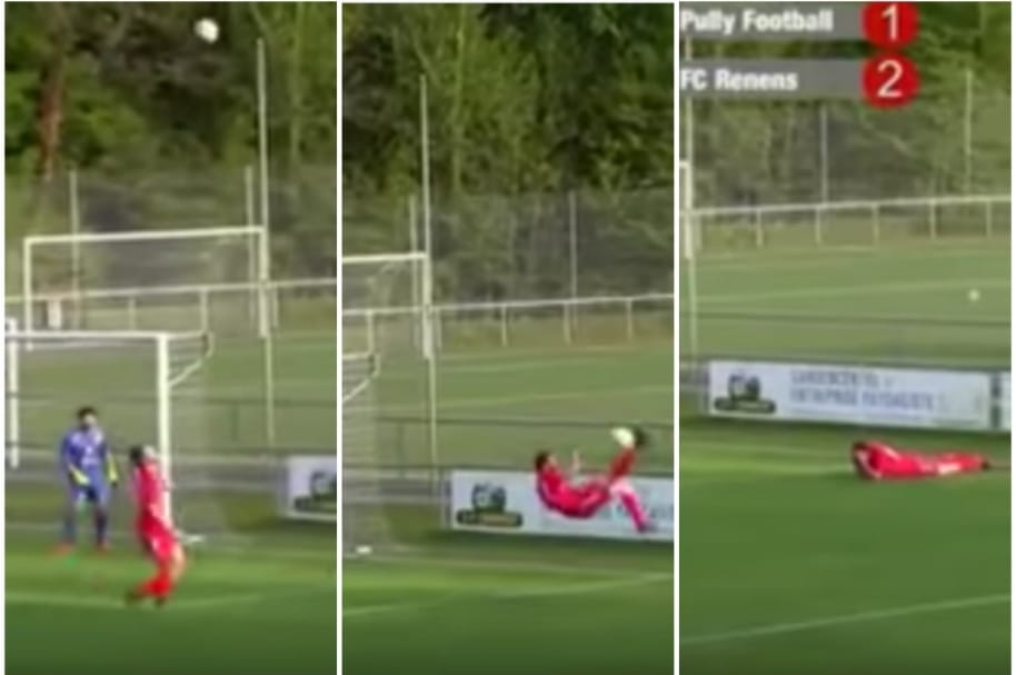 Futbolista Adrien Gulfo mete autogol.