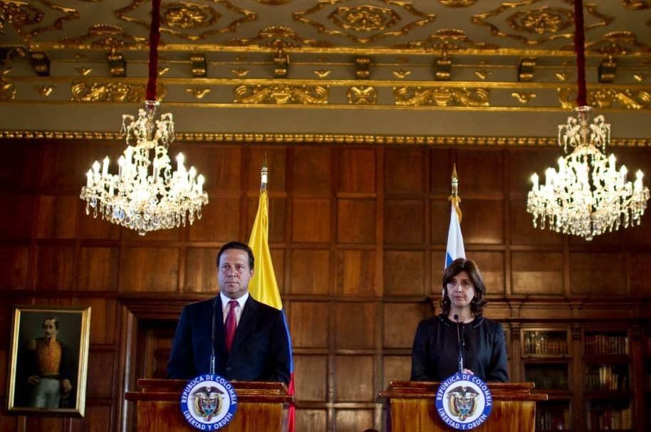 Juan Carlos Varela y María Ángela Holguín
