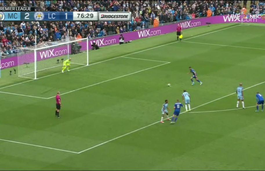 Penal Mahrez, Leicester vs. Manchester City.
