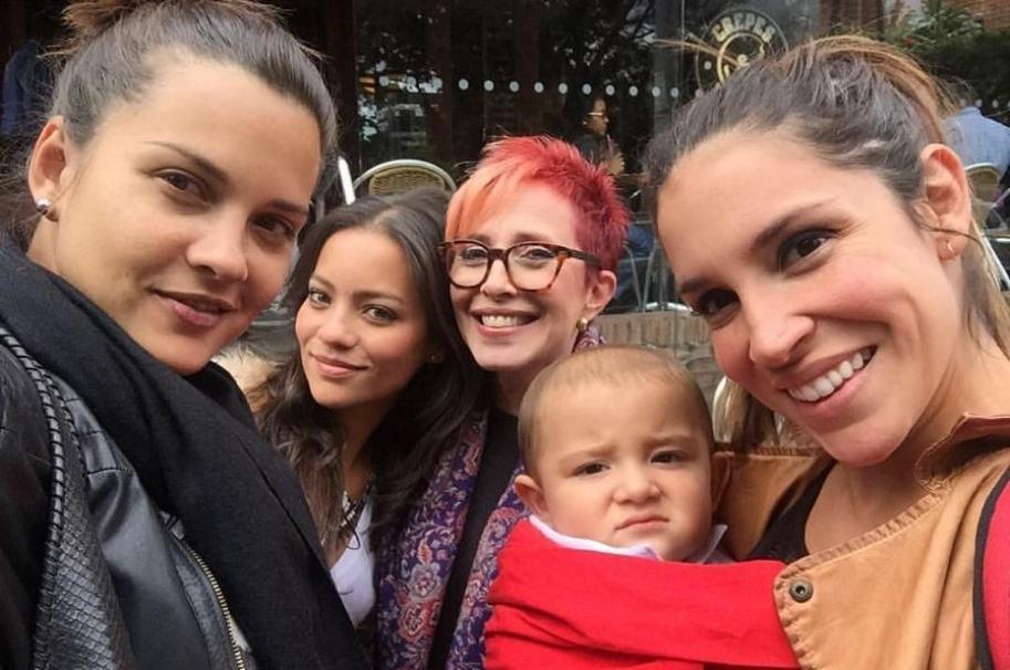 Marianela González, Natalia Reyes, Yaneth Waldman y Valentina Lizcano, actrices.
