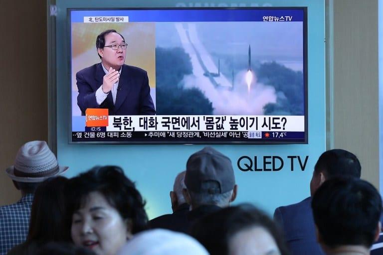 Lanzamiento de misil en Corea