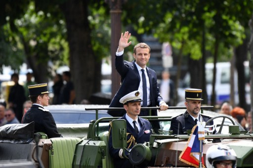 Posesión Emmanuel Macron, presidente de Francia.