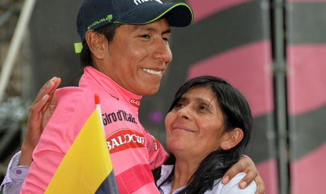 Nairo Quintana y Eloisa Rojas