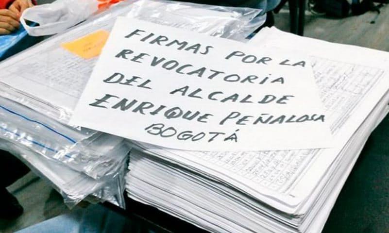 Firmas revocatoria Peñalosa