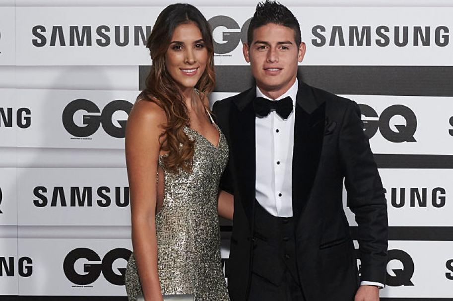 Daniela Ospina y James Rodríguez