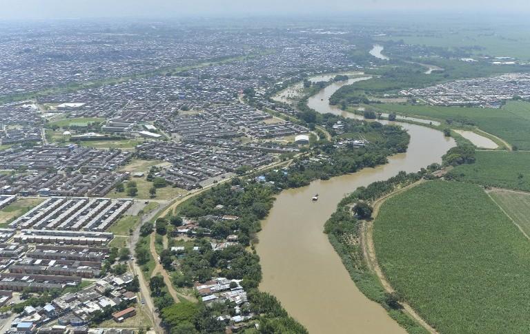 Río Cauca, en Cali