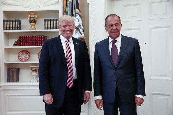 Donald Trump y el canciller ruso, Sergei Lavrov