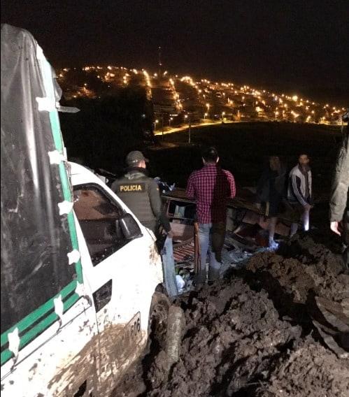 Deslizamiento de tierra en Soacha (Cundinamarca)