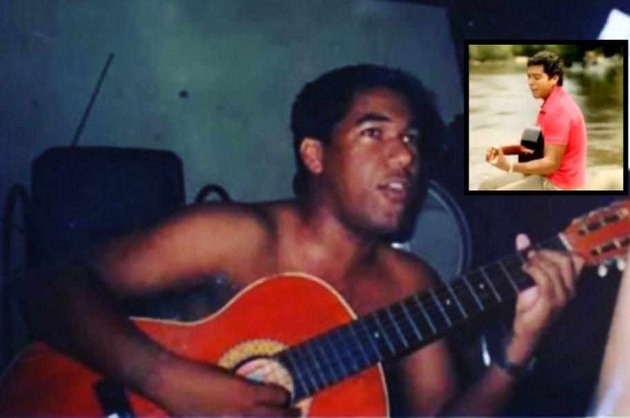 El cantante Kaleth Morales (Q.E.P.D.) y el actor que lo interpretará en 'Los Morales', Jerónimo Cantillo.